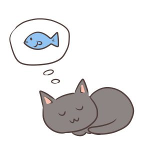 夢を見る猫イメージ